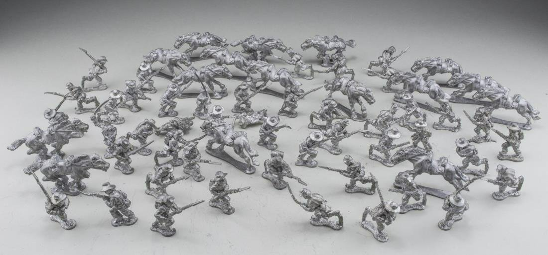 Group of Pewter Toy Soldiers