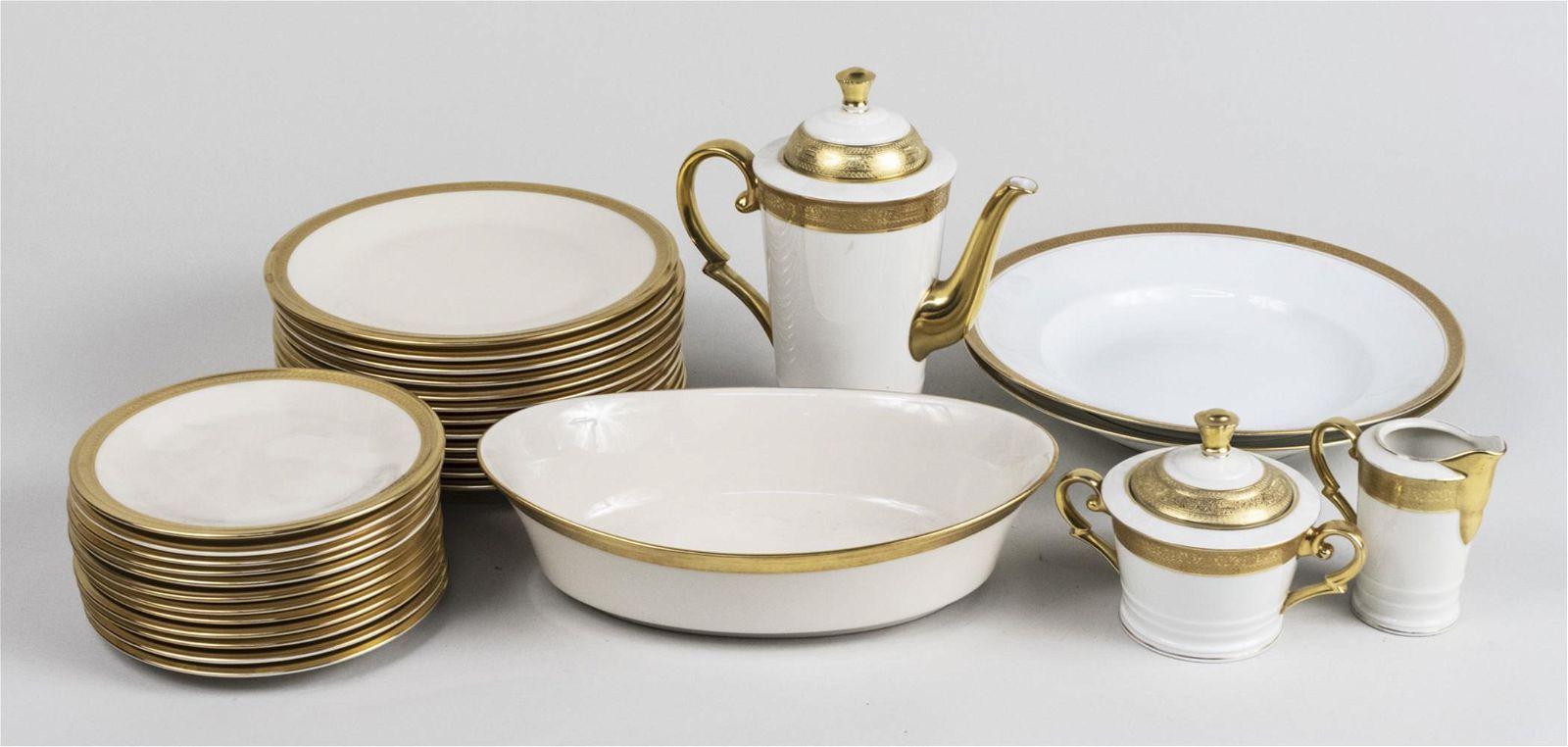 Assembled Gilt Decorated Partial Dinner Set