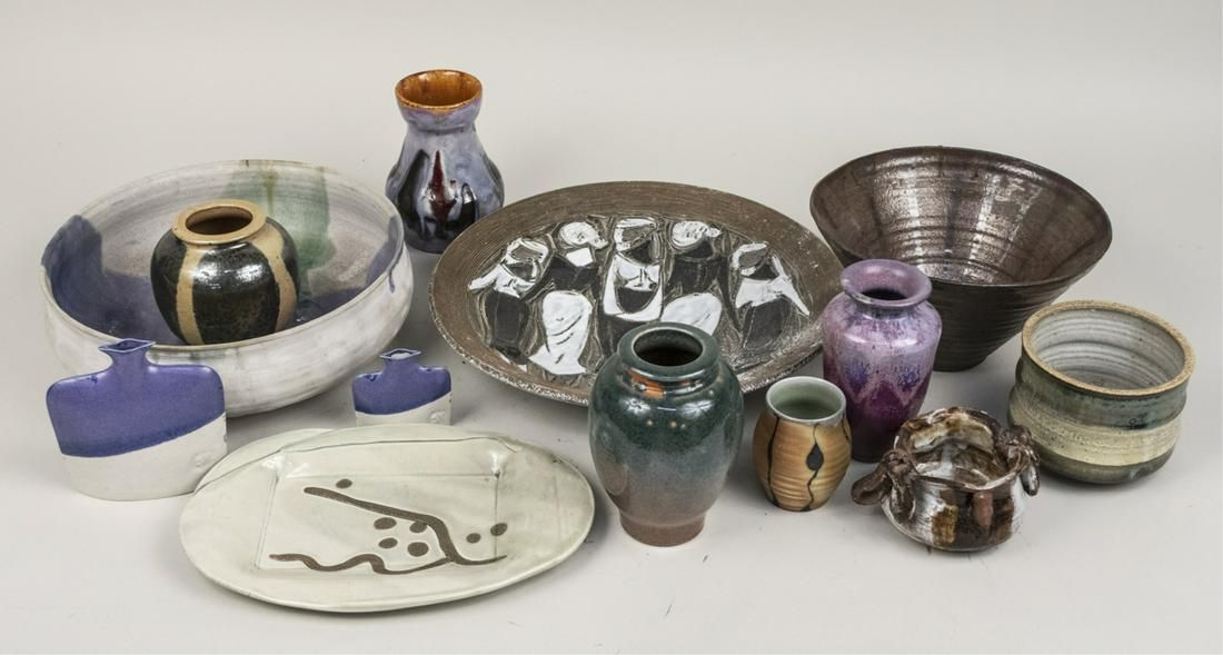 Miscellaneous Group of Art Pottery
