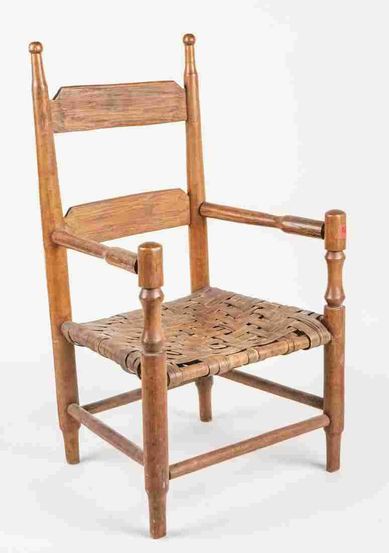 Vintage Ladder Back Childs Chair