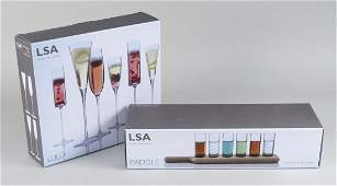 LSA International Vodka Set  Champagne Flutes