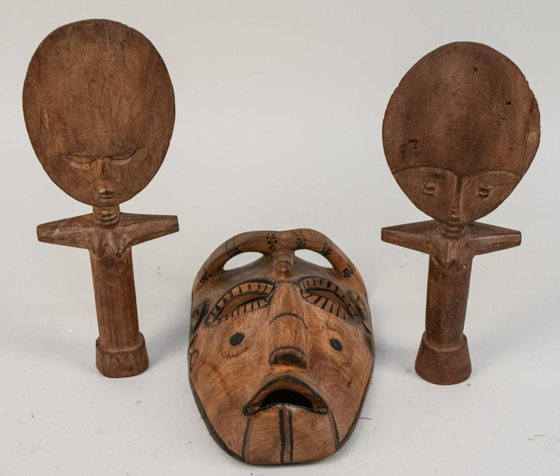 Group of African Carved Wood Articles