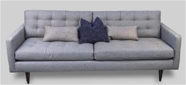Crate & Barrel Grey Sofa