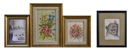 Four Framed Artworks