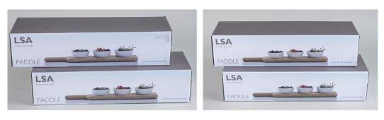 Four LSA International Bowl Sets with Paddle