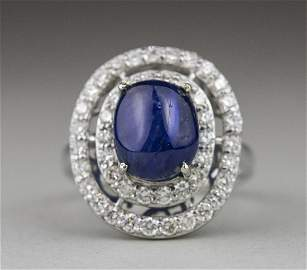 Sapphire and Diamond Ring   *