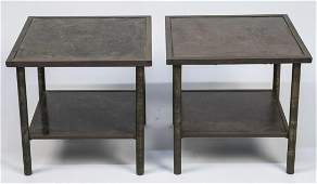 Pair of Philip & Kevin Laverne Bronze Side Tables*