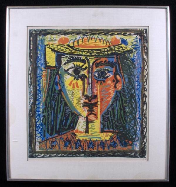 5: Pablo Picasso (Sp. 1881-1973) Face of Girl