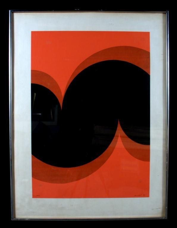 9: Donald Kunkel Abstract Study Red/Black