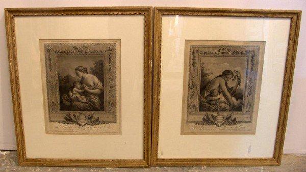 12: Pair of French Engravings Allegorical Scenes