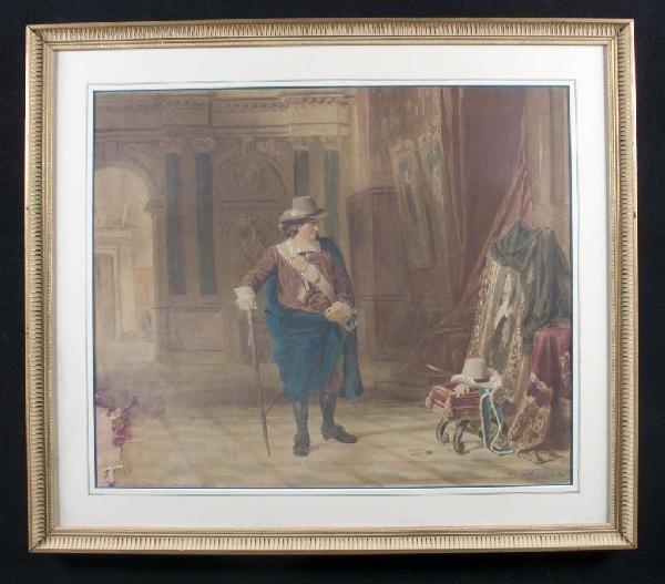 19: Julius Sebradez Gentleman Viewing a Portrait