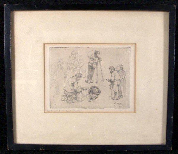 22: Paul Mathey (Fr. 1844-1929)  Le Mendiants