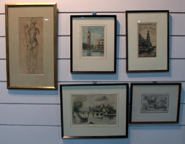 23: Miscellaneous Group of Five Prints