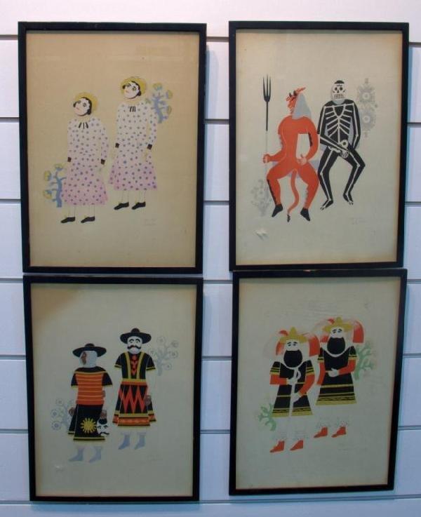 24: Four Decorative Prints