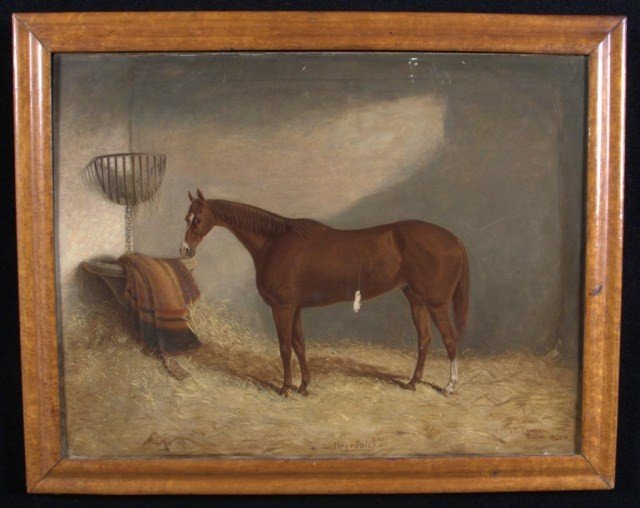1: J.P. Truman (Eng.) Portrait of a Horse Oil on canvas