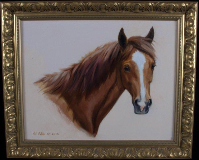 2: Pat Olds Horse Head Oil on canvas, signed l.l. and d
