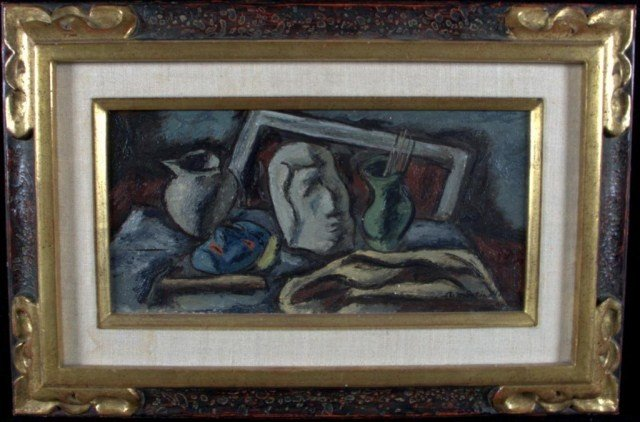 9: Martinelli Abstract Still Life Study Oil on canvas,