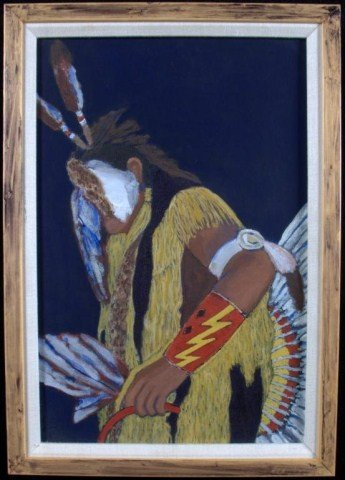 21: Mary Martin Indian Brave Oil on canvas, signed in p