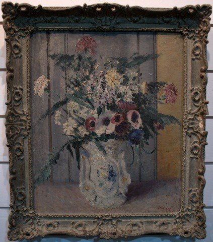 4: Early 20th C. Still Life Painting -  Oil on Board