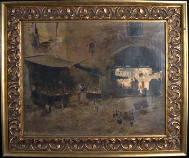 9: John Califano (Am/It 1864-1946) Market Scene