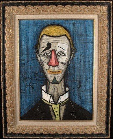 40: Manner of Bernard Buffet (Fr. 1928-1999) Clown 55
