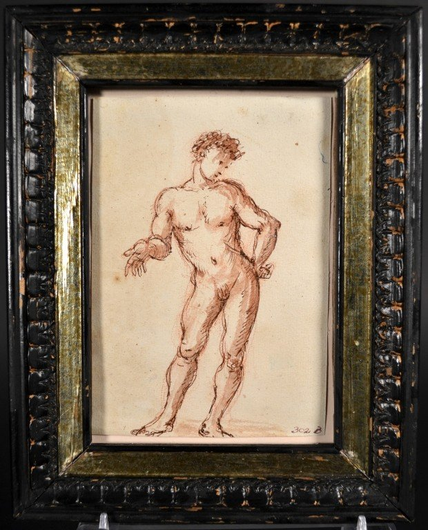 5: Old Master School Study of a Male Nude