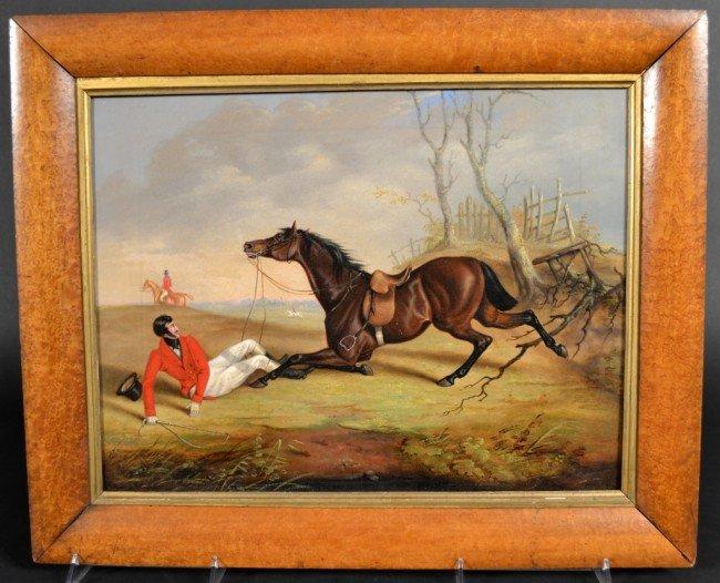 16: English School Fallen Horse *