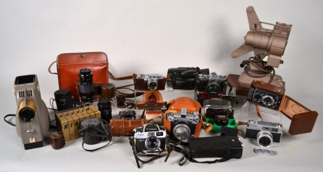 204: Miscellaneous Assorted Group of Cameras