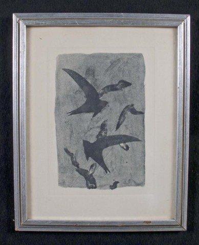 6: George Braque (Fr. 1882-1963) Birds in Flight