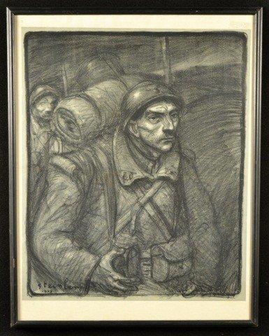 7: Théophile A. Steinlen (Fr/Swiss 1859-1923) Soldier