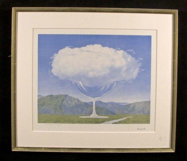 8: Rene Magritte (Bel. 1898-1967) Champagne Glass