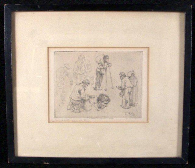10: Paul Mathey (Fr. 1844-1929)  Le Mendiants