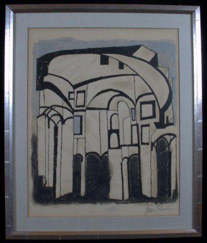 13: Ben Shahn (Am. 1898-1969) Buildings