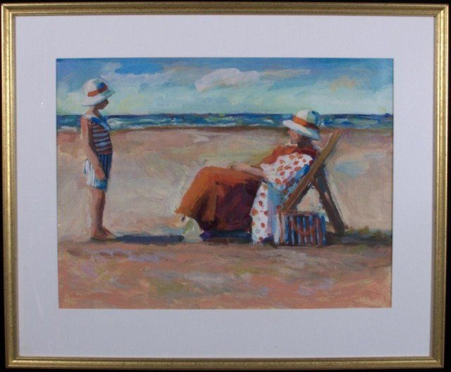 14: Woman in a Beach Chair