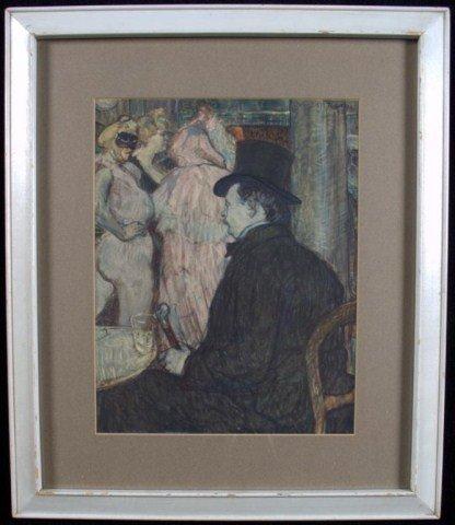 15: Henri de Toulouse-Lautrec Man Seated in a Cabaret