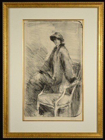 18: Girl Seated on Chair Arm
