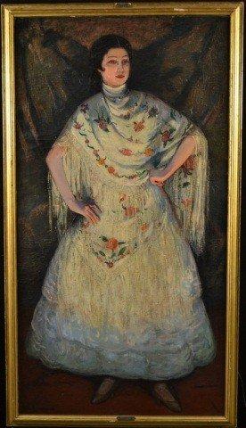 80: Louis Kronberg (Am 1872-1965) Woman in White Dress