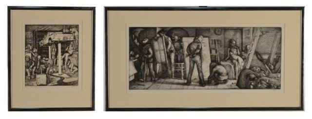 2: G.M. Silverstein  Two Etchings   *