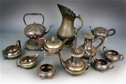 114: Two Silver Plated Coffee and Tea Services