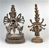597: Two Bronze Figures of Hindu Gods