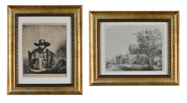 2: Two Rembrandt Prints