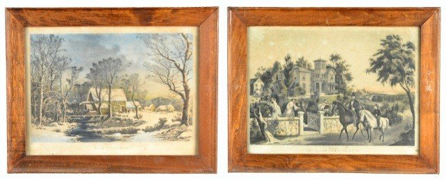 3: Two Vintage Currier Landscapes