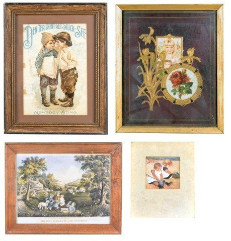 24: Four Prints of Children