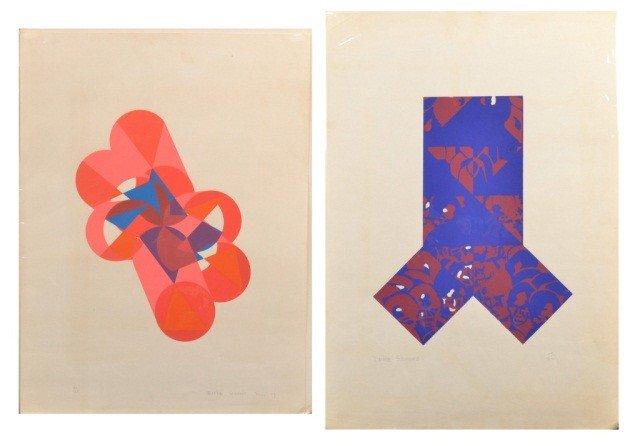 11: Enrique Salamanca  Two Abstract Prints