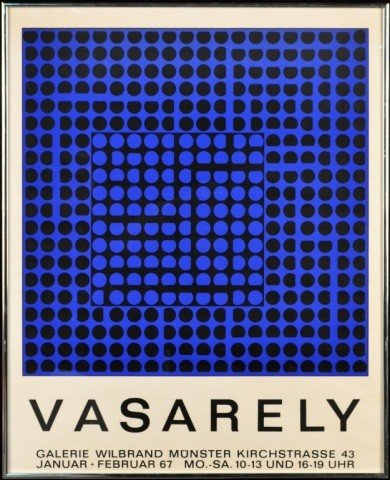 23: Galerie Wilbrand Victor Vasarely Exhibition Poster