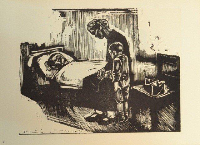 39: Käthe Kollwitz (Ger. 1867-1945)  Six Woodcuts - 5