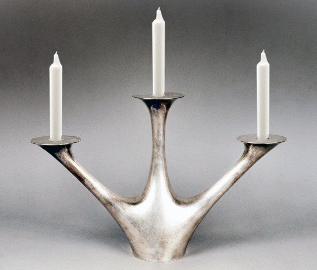 134: Georg Jensen Sterling Silver Candle Holder   *