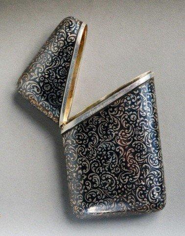 144: Russian Silver and Niello Cigarette Case