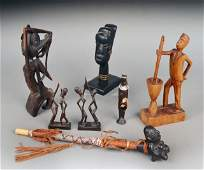 354: Miscellaneous Group of Ethnic Carved Wood Articles