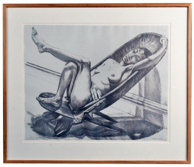 19: Philip Pearlstein (Am. 1924)  African Chair